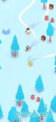 企鵝滑雪圖1