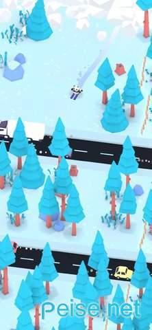 企鵝滑雪圖3