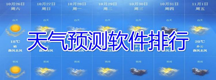 天气预测软件排行