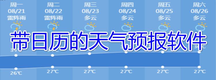 带日历的天气预报软件