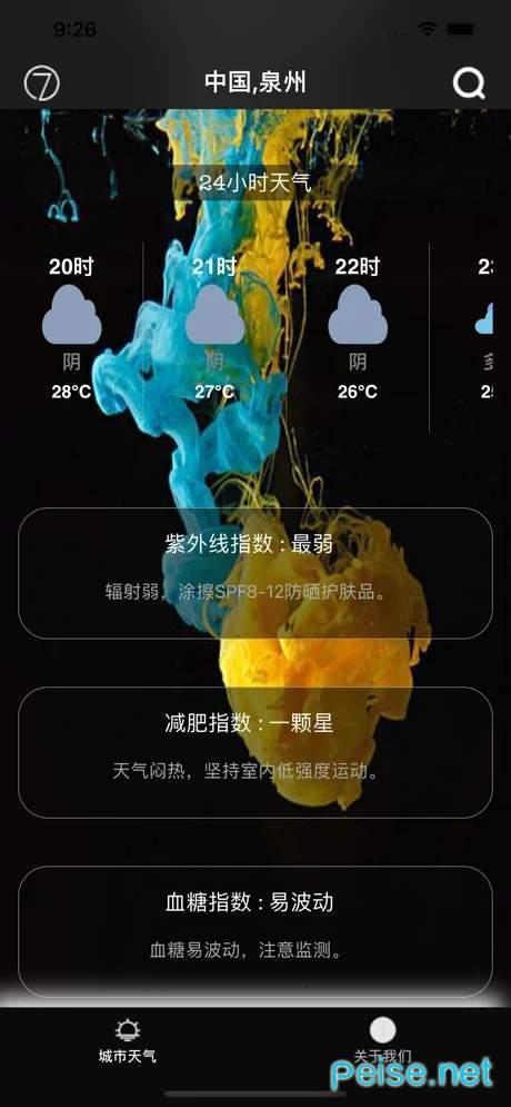 印象派天气图2