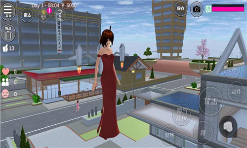 樱花校园模拟器更新水上乐园中文版图2